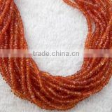1 Strand Natural Orange Sapphire Faceted 2.5-3.5mm Rondelle Drilled Beads Strand,Beautiful Necklace Making Strand