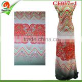 CF037-1 New Arrival Printed Chiffon Fabric Top Quality Chiffon Fabric For African Women Dress