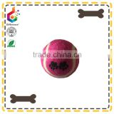 High quality customized printed tennis shape pet dog chew ball