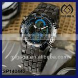 men's full steel watch for army fashion tactical sport quartz watch chronograph fashion watch
