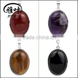 Bulk Wholesale Gems Stones Oval Cabochon Shaped Necklace&Pendants
