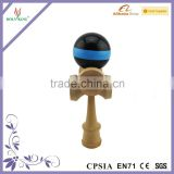 Black & Blue Crackle Super Kendama,Japanese Wooden Toy,Super Sticky,USA Seller