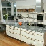 Spary White granite counter top,kitchen top,sea wave white granite tiles