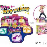 baby girls Hip hop mixer activity play mat ,electronic musical play mat