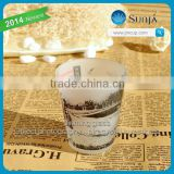 Frosted Glassware Candle Adornment Star and Moon Holiday decorative Burning Candle Cup glass