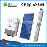 High quality AC 220 v 3 phrase solar powered deep well Submersible water pump for agriculture irrigation