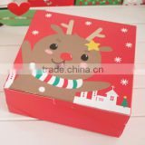 Christmas cheese mousse chiffon cheese cake box of moon cakes bake cookies packaging box
