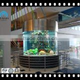 customized cylindrical acrylic fish tank from China factory price