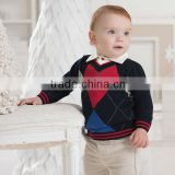 DB1187 dave bella 2014 autumn winter baby striped pullover kids sweater baby outwear baby clothes design boy sweater