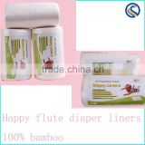 happy flute 2016 100% Biodegradable Diaper Nappy Liner Flushable Diaper Liner Eco-friendly