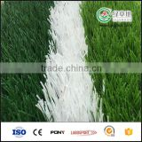 Soccer/football field use white artificial grass