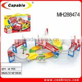Kids battery operated track cars,self-assembly toy car,electric race car track set