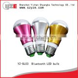 bluetooth control e27 smart led light bulb,dimmable led bulb