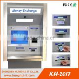 Hot sale auto service payment machine touchless exchange foreign currency