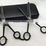 Black Color Coated Barber Hair Cutting Scissors & Thinning Scissors Set 6.5""