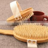 Long-handled bamboo removable off bristles dry brush bath brush and chopping brush