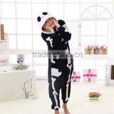beautiful promotional black/white customized Factory Wholesale Party Wearing Adult Plush Skull Jumpsuit