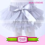 Elegant purple bow newborn girls tutu skirt bloomers Fashion kids chiffon disper baby bloomers wholesale                                                                                                         Supplier's Choice
