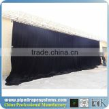 hot selling red stage curtain for sale/adjustable pipe and drape for wedding /wedding drapery support