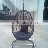 Outdoor Patio Wicker Rattan Swing Chair Hanging Chair Egg-Shaped Pod Chair Hammock with Cushion