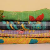 Indian Kantha Quilt Baby Quilt Twin Indian Quilt Indian Throws Sari Patchwork Quilt Cotton Quilt Vintage Quilt