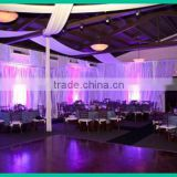 New design popular pipe and drape,wedding ceiling drape for wedding/event