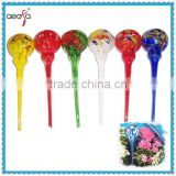NEW!! Mixed Color Hand Blown Glass Flower Globe Watering Bulb Aqua Globe                                                                         Quality Choice