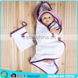 2015 Hot Selling China cheap Wholesale logo embroidery 100% cotton kids babies hooded towel                                                                         Quality Choice