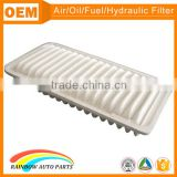 17801-0G010 air filter for toyota hiace with white non woven cotton