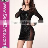 Wholesale Sexy Long Sleeve Bling Bling Cocktail Clubwear Night Dress