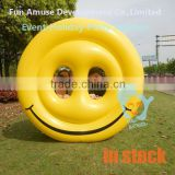 High quality adult pool toys smile face pool float inflatable donut