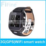 2015 new product Gsm smart watch phone/ NFC Wifi android mtk 6572 gps smart watch phone
