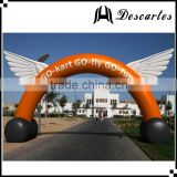 Made in china inflatable angel wing circle arch for large events