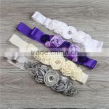 graceful newborn baby shower girl hairband with factory wholesale girls colorful cute baby flower hairband
