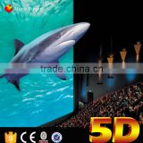 Electric Motion seat 5D Movie Equipment with Large Screen and 3D Glasses for amusement park