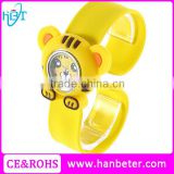 Slap snap on Silicon rubber sports boy girl's wholesale minions despicable me fashion slap watch