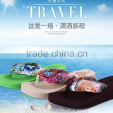 663 LOULUEN Wholesale Stock EVA Silk Women Wedge Sandal Flip Flops