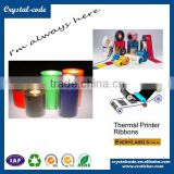 Different types of ribbons with high quality barcode sticker print wax/resin for fax machine