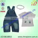 new arrival baby clothes set | tshirt and denim overalls for 3-24M