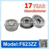 F623 ZZ RS Miniature Flange Ball Bearing Deep Groove Ball Bearing