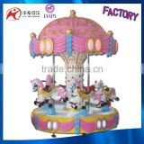 mini luxury music horse carousel 6 seats mechanical horse ride for sale