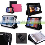 Black Universal Book Style Cover Case with Built-in Stand [Accord Series] for Google Nexus 7 Inch Tablet