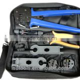 A-K2546B-5 MC4 solar crimping tool kits for 2.5mm2/4mm2/6mm2 solar cable, with Crimping/Stripping tools.