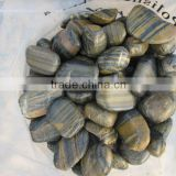 Polished pebble tile,nature river stone tiles,pebble stone tile,Pebble and Cobble,Cobble stone,polished black river stone tile