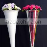 Home decor metalwedding vase/floral flower stand/metal tall silver white flower stands wholesale
