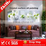 dropshipping oil painting with flower vase painting designs of decoration home to bedroom