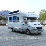 Customizable multifunctional marketing truck with bar shape LED screen, lifting LED screen, moving stage, stereo, TV, etc