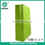 Stand Up Plain Paper Merchandise Bags,Plain Green Kraft Shopping Bags,Paper Gift and Shopping Bags