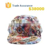 2015 New Fashion Women Men Caps Spring Autumn Flat Beauty Rose Floral Hip Hop 5 Panel Hats Wholesale Retail