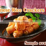 Japanese and Flavorful shrimp flavored rice crackers dried fish snack , sample available